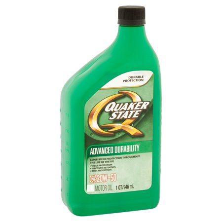Quaker State Advanced Durability SAE 20W-50 Motor Oil, 1 qt