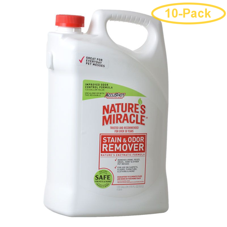 Nature's Miracle Stain & Odor Remover Refill 1.33 Gallons - Pack of
