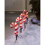 Holiday Time 4-Count Candy Cane Pathway Christmas Lights