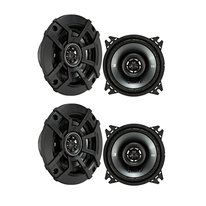 "Kicker CS Series 4"" Coaxial EVC 2 Way 600 Watt Car Speakers 43CSC44 (4 Speakers)"