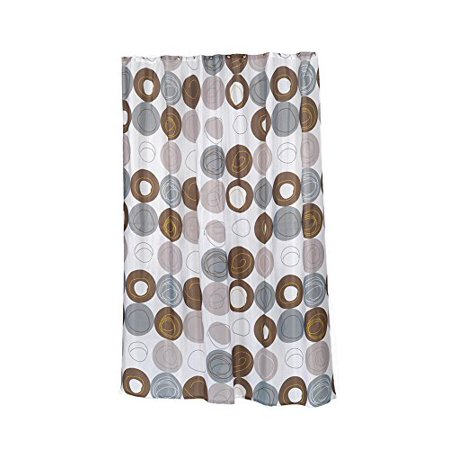 Park Avenue Deluxe Collection Extra Long Madison Fabric Shower Curtain Size 70 Wide X 96