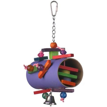 Super Bird Creations SB645 Barrel of Fun Jr. Bird Toy, Multi-Color, Medium