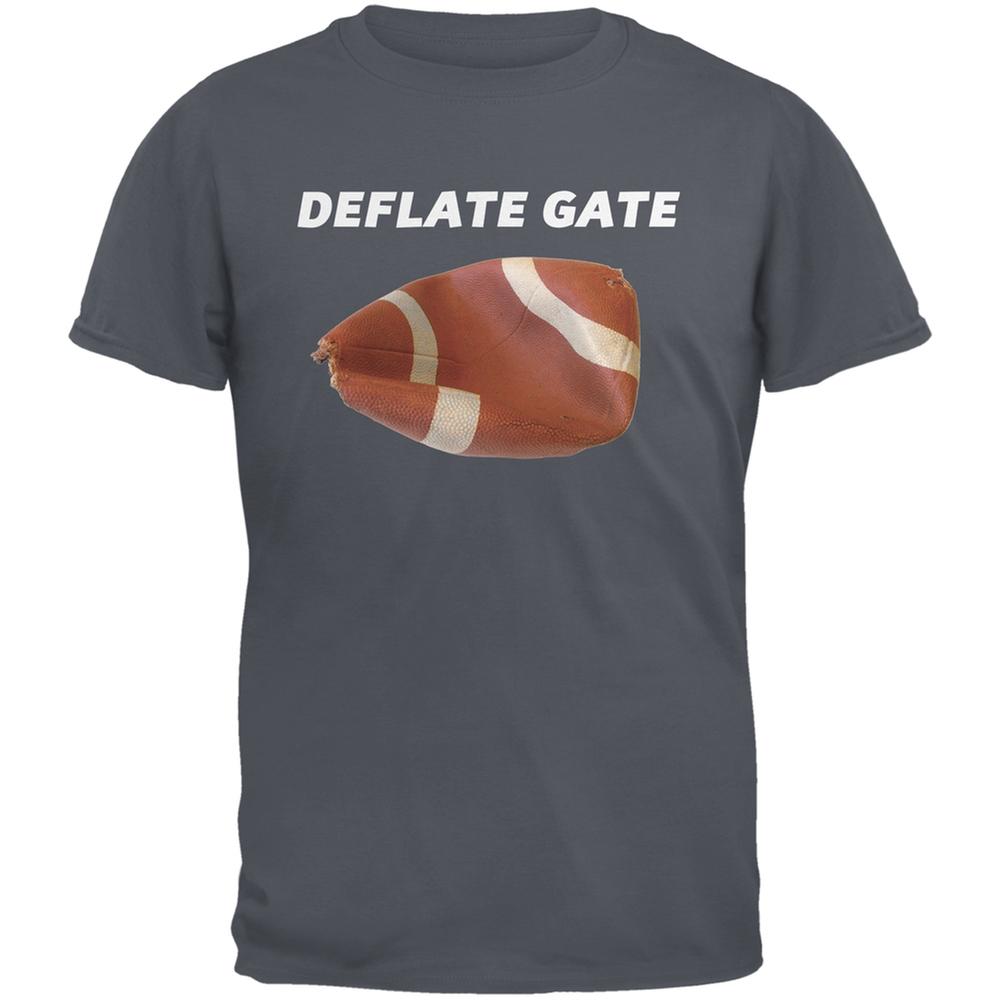 Deflate Gate Charcoal Grey Adult T-Shirt