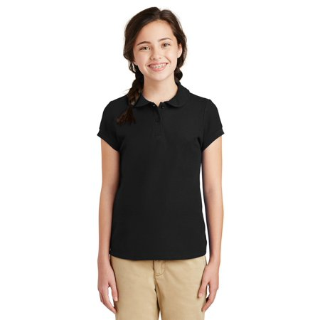 Port Authority Girls Silk Touch Peter Pan Collar Polo ()