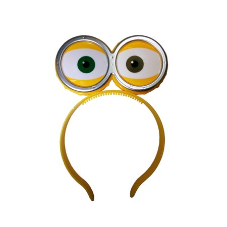 Nicky Bigs Novelties LED Light Up Eyeballs With Goggles Headband,One Size - Novelty Goggles
