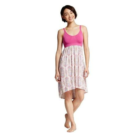 Gilligan & O'Malley Women Sleepwear Tank Nightgown Floral Dress Pink Scroll (Omalley Green)