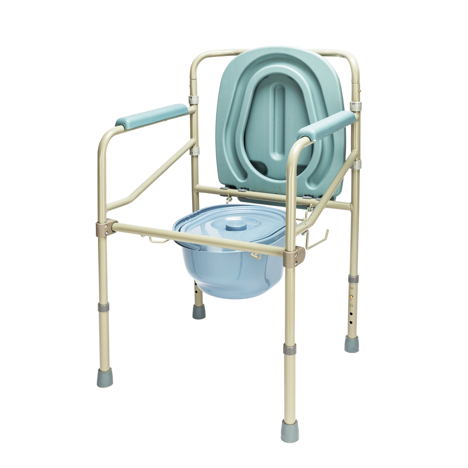 Zimtown Adult Potty Chair Toilet Seat Commode Bedside Steel ...