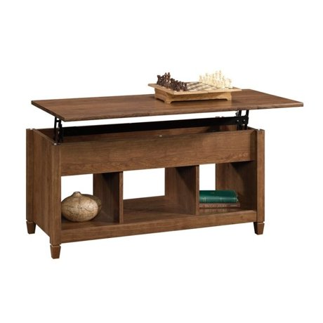Sauder Edge Water Lift Top Coffee Table In Auburn Cherry