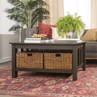 Product Image 40 Traditional Wood Storage Coffee Table With Totes Espresso