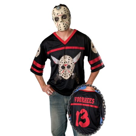 Friday the 13th Jason Hockey Jersey and EVA Mask Adult Costume (Jason For Halloween)