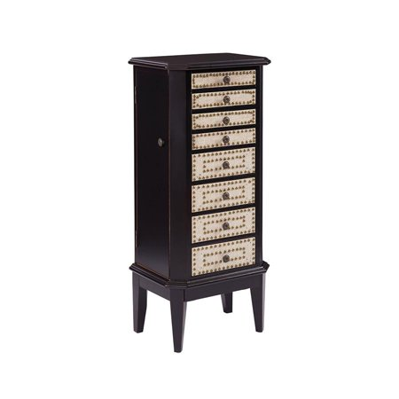 Stein World Corie Jewelry Armoire in Hand-Painted & Brown & Cream