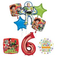 Toy Story 6th Birthday Party Supplies and Balloon Bouquet Decorations