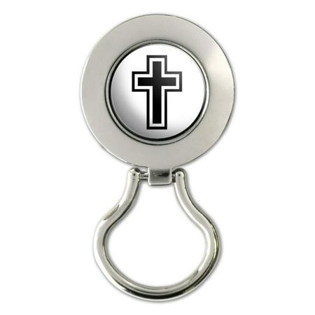 Cross Christian - Religious Magnetic Metal Eyeglass Badge Holder (Christian Lanyards)