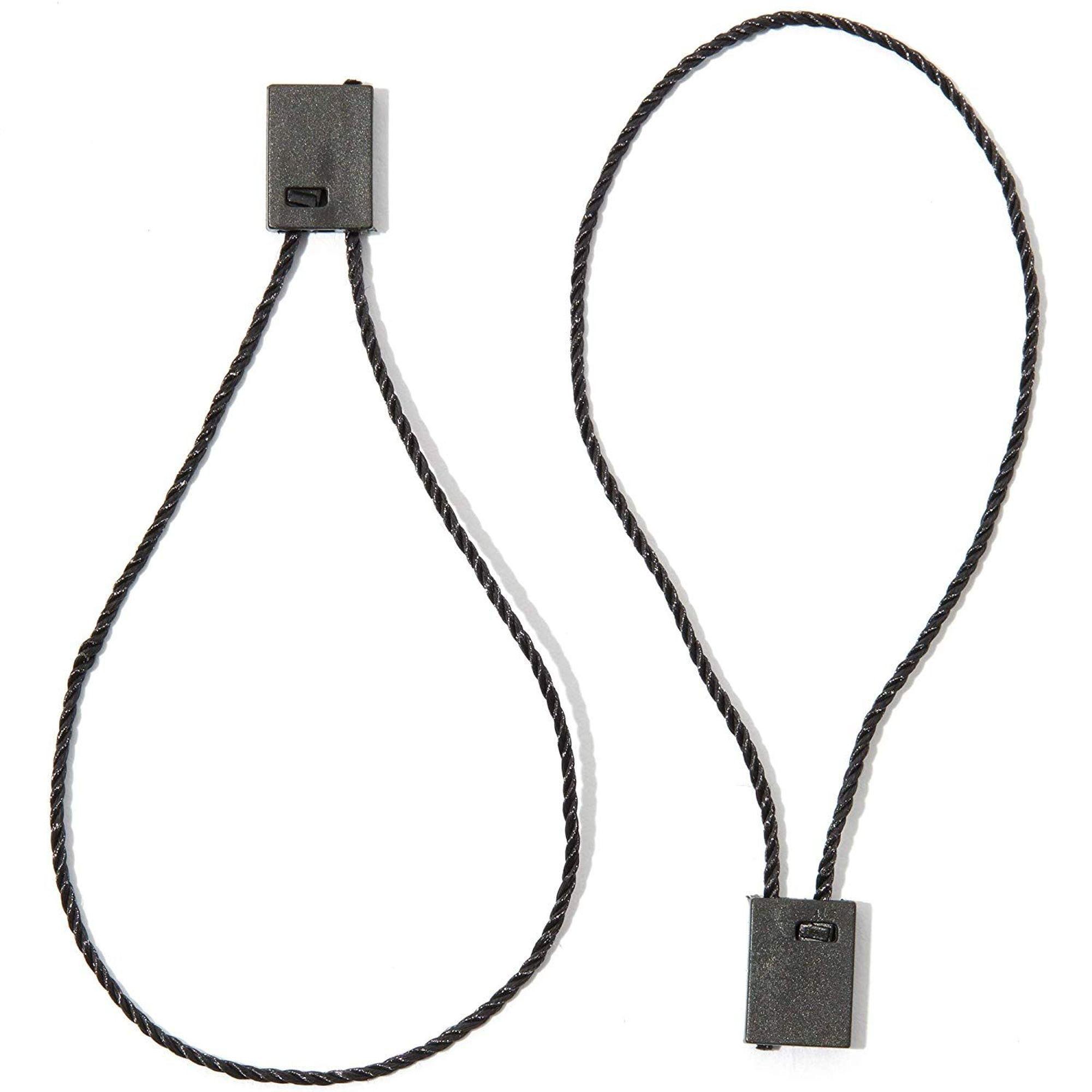 "Details about  /7/"" 1000 Pcs Hang Tag Nylon String ROUND Snap Lock Pin Loop Fastener Ties"
