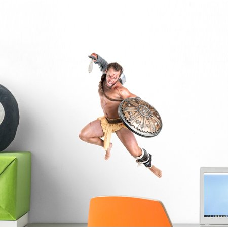 Gladiator Wall Decal Wallmonkeys Peel and Stick Decals for Boys (12 in H x 8 in W) - Gladiator Boy