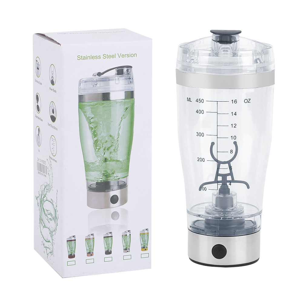 Automatic 18 Oz Portable Drink Mixer Mixing Cup Mug Battery Shake Protein Shaker Bottle Blender Smart Cup by YKS