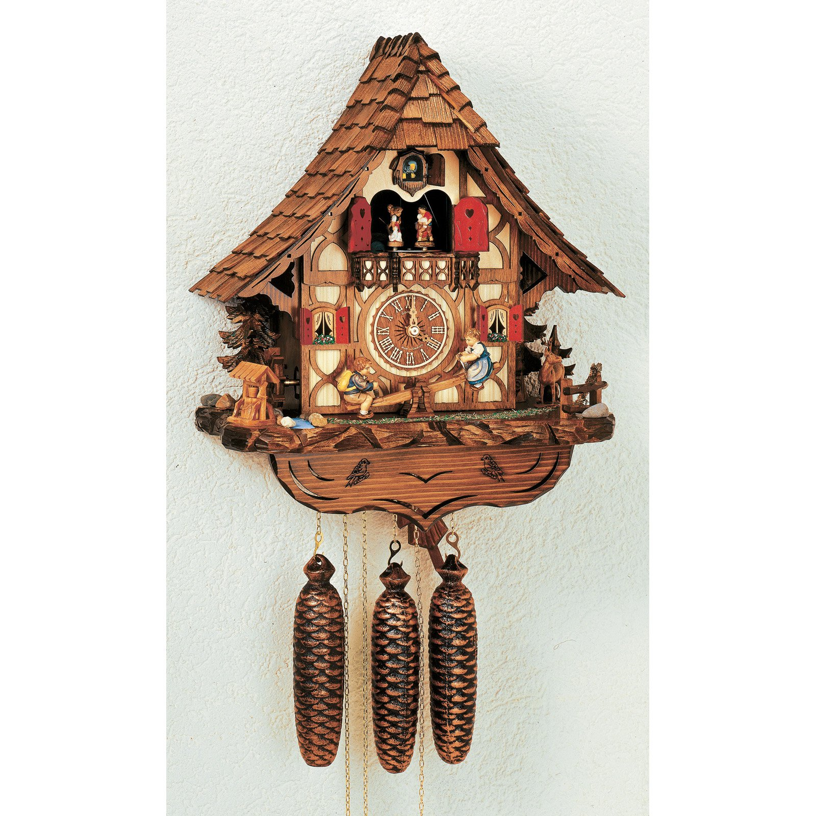 Black Forest 14 Inch Wide Cuckoo Clock by Schneider by Anton Schneider Sohne GmbH