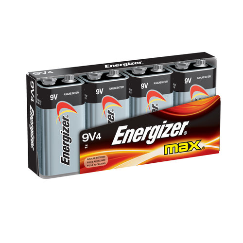 Energizer Max 9V Batteries, 4 count