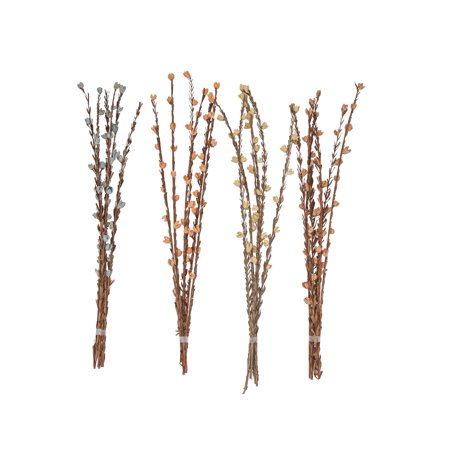Decmode Natural 41 Inch Dried Plant Decorative Sticks - Set of 4