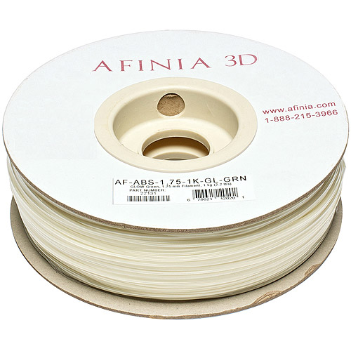 Image of AFINIA Value-Line ABS Filament for 3D Printers, Glow-in-the-Dark Green