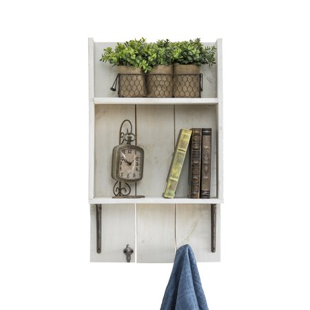 Wood Bathroom - Reclaimed Wood Bathroom Shelf, White