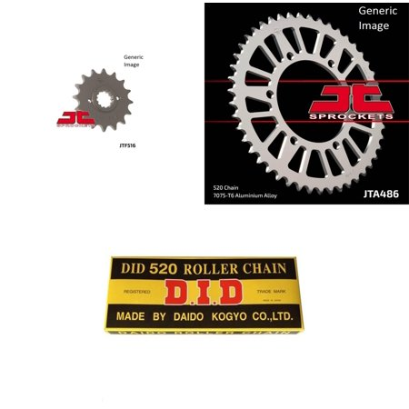DID Standard 520 Chain Natural, JT Front & Rear Sprocket Kit for Street KAWASAKI EX250 Ninja 250 R 2008-2012