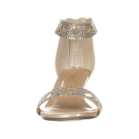 8979ccbd82 TS35-Addis Ankle Strap Wedge Sandals, Champagne - image 1 of 6 ...