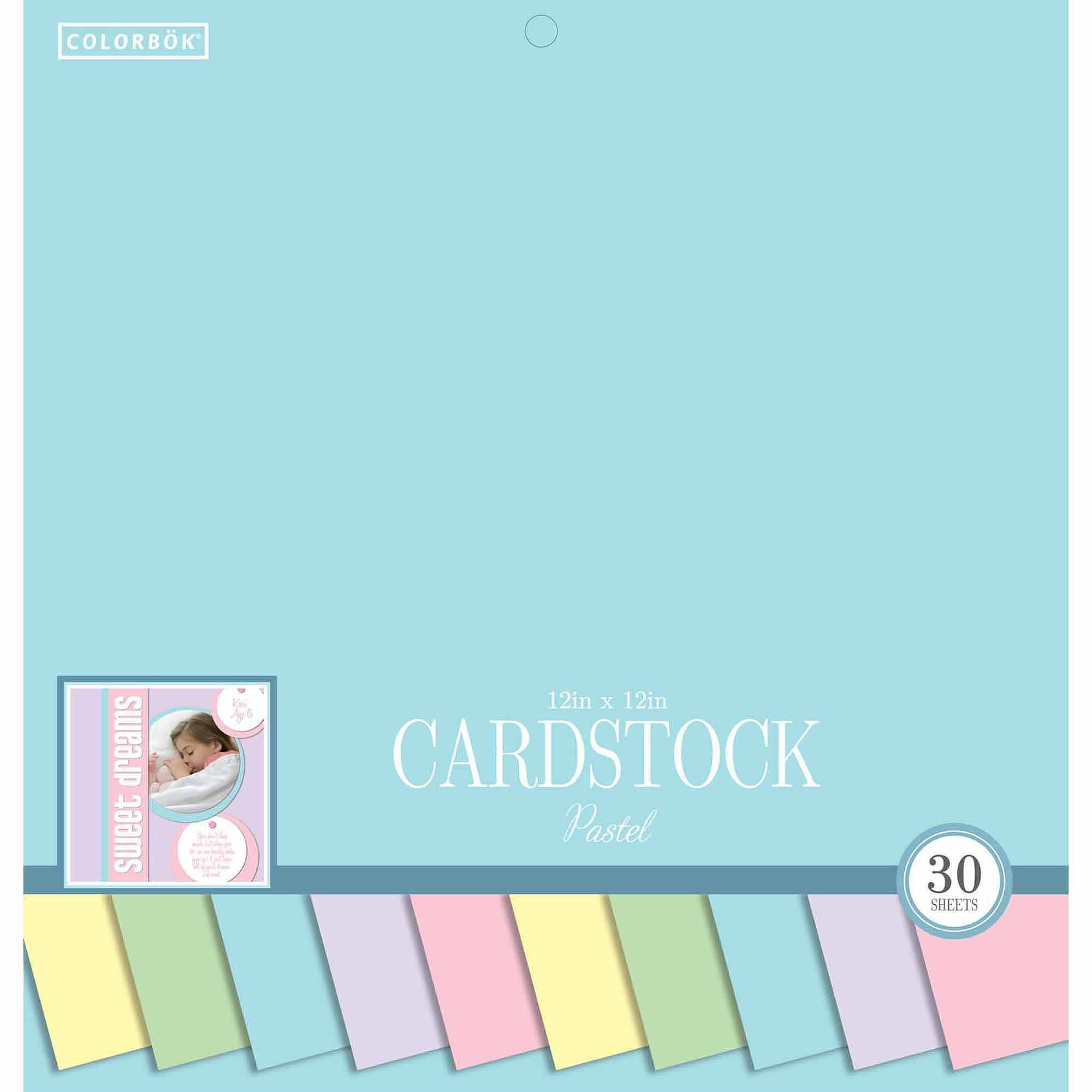 "Colorbok 12"" Smooth Cardstock Pastel Pad"