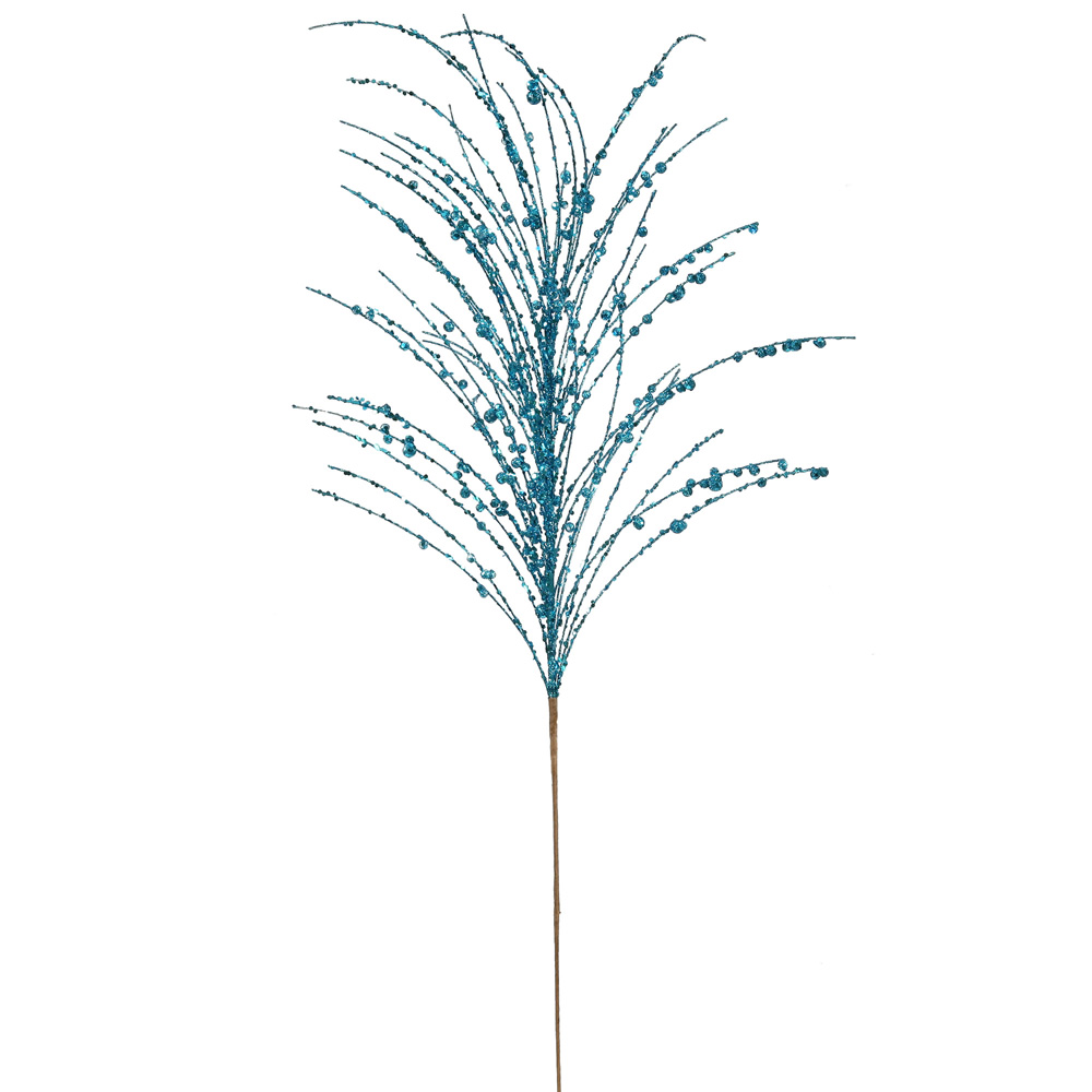 "Vickerman 34223 - 28"" Turquoise Glitter Berry Spray (P132912)"