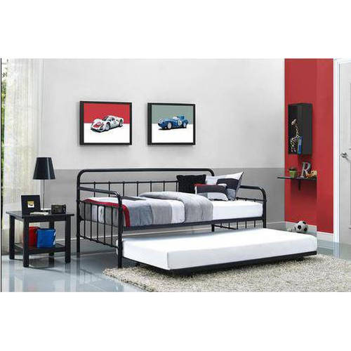 Better Homes and Gardens Kelsey Metal Daybed & Trundle with a Set of 2 Mattresses, Multiple Finishes