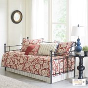 Home Essence Rose 6 Piece Cotton Twill Reversible Daybed Set