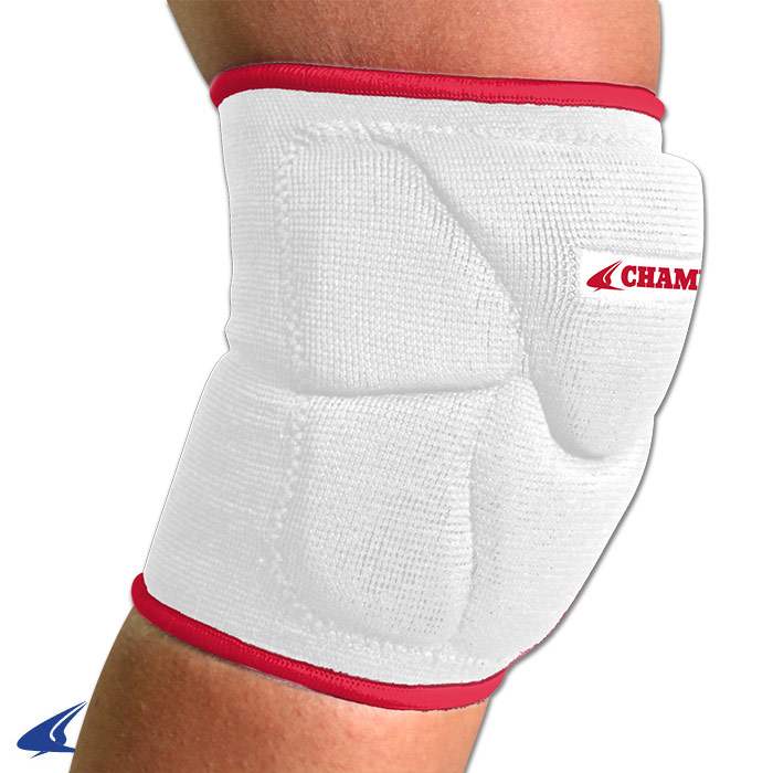 CHAMPRO Pro-Plus Low Profile Volleyball Knee Pad Medium White/Red