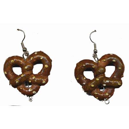 Oktoberfest Pretzel Costume Earrings