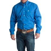 Cinch Mens   Pinpoint Oxford Long Sleeve Shirt 3X XXX-Large Blue