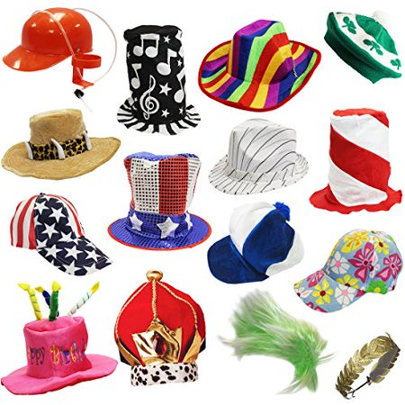 7d41c0d7fd4 6 Assorted Dress Up Costume   Party Hats by Funny Party Hats - 6 Adult Costume  Hats - Walmart.com