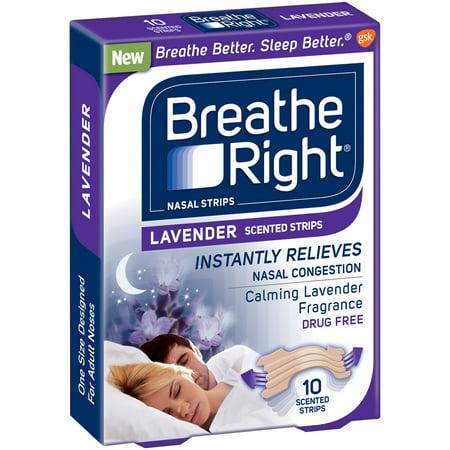 Breathe Right Nasal Strip Lavender  10 Ct