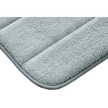 """Spa Blue Ultra Luxurious Memory Foam Bath Mat with non skid latex backing, size 17""""x24"""" - image 1 of 3"""