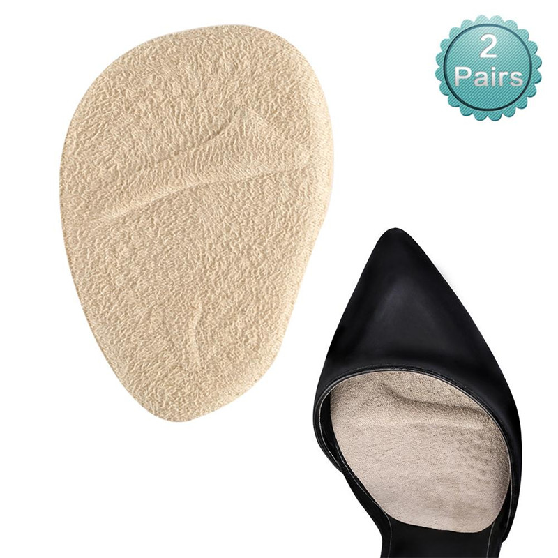 YOSOO 2 Pairs Anti-slip Shoe Pads Ball of Foot Cushions Inserts Gel Forefoot Insoles for Women