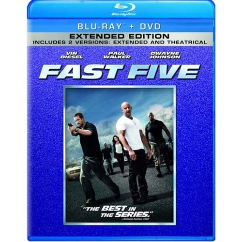Fast Five (Unrated/Rated) (Extended Edition) (Blu-ray + DVD)