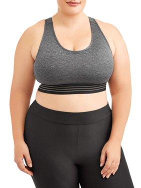 1de085a1a6 Product Image Women s Plus Size Medium Impact Stripe It Sports Bra
