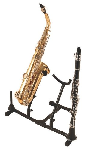 On-Stage Stands Double Saxophone Stand with Two Pegs by On-Stage Stands