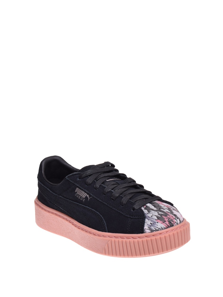 Puma Women Platform - Sun And Stitch (Black), Black, Size 6.0