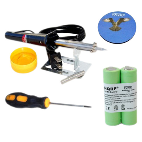 HQRP Battery fits Philips Norelco 6886XLD 6887XL 7610X 7616X 7617X 7735X Razor / Shaver plus Screwdriver, Soldering Iron and Coaster