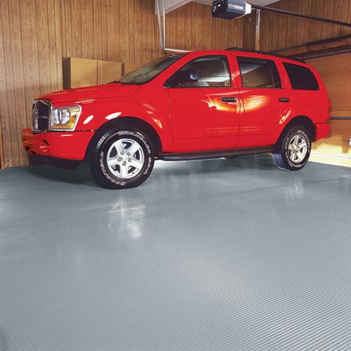G-Floor Ribbed Universal Flooring 7.5' x 17' Premium Grade Thickness Slate Grey