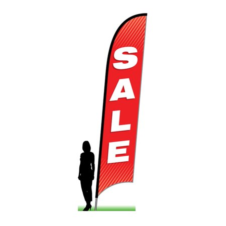 Sale in Red - complete 14' ground spike swooper feather flag kit for $<!---->