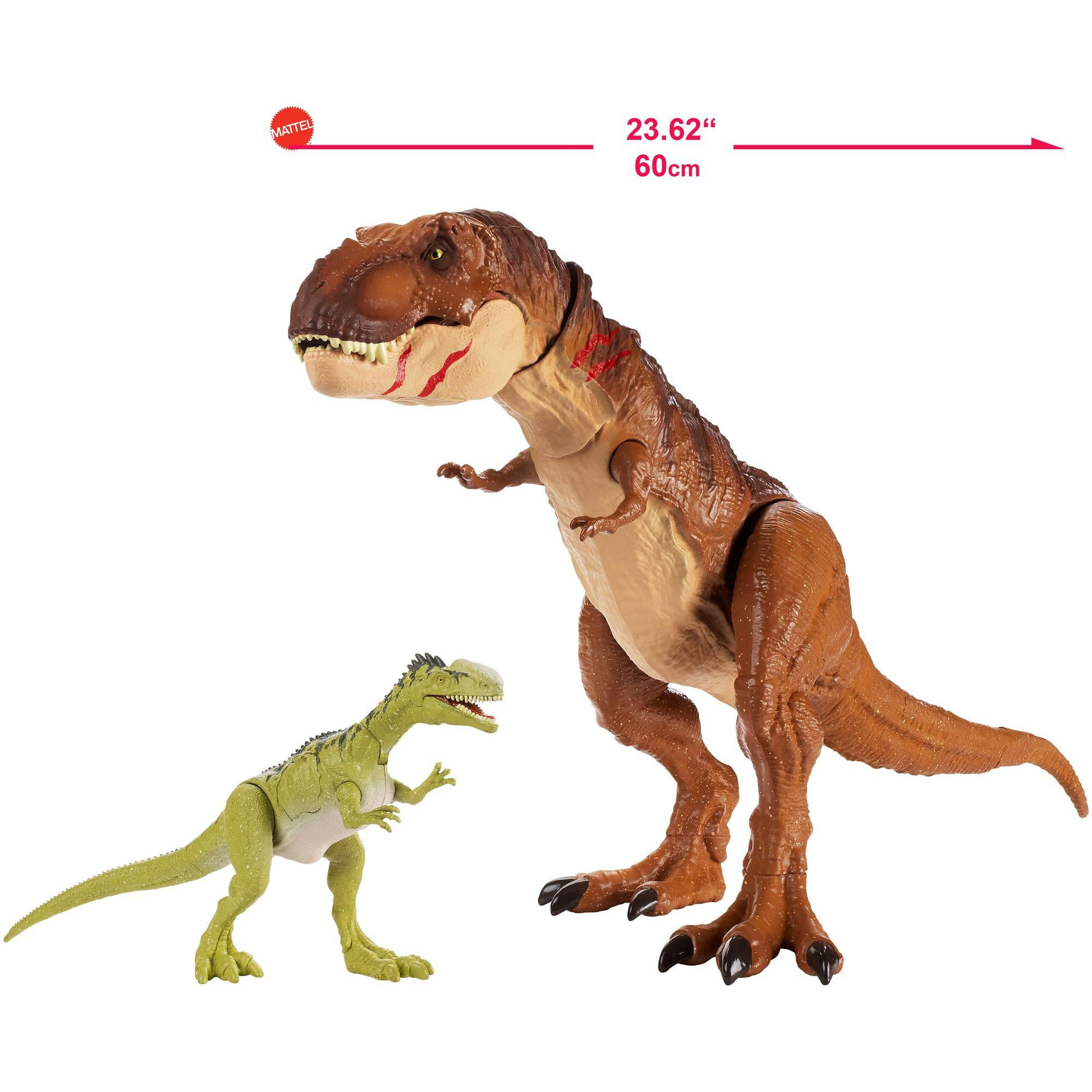 dans la main Jurassic WorldBattle Damage Spinosaurus WALMART EXCLUSIVE