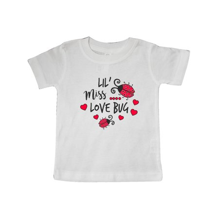 Lil Miss Love Bug with Lady Bug and Hearts Baby T-Shirt