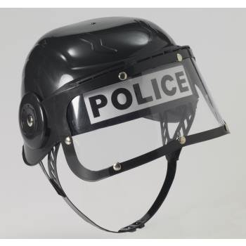 CHILD POLICE HELMET-BLACK