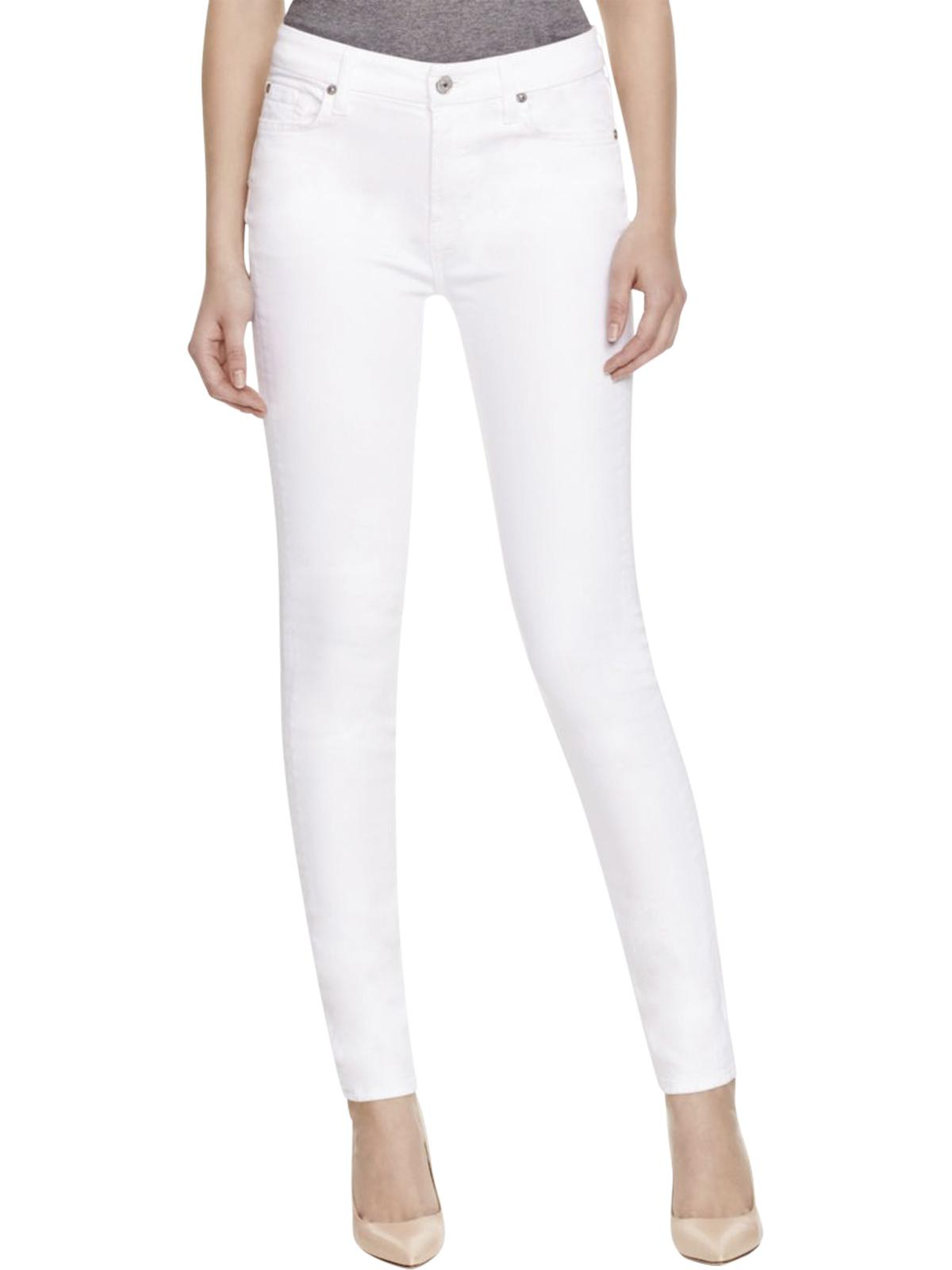 7 For All Mankind Womens Denim Low-Rise Skinny Jeans