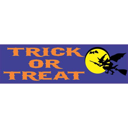 StickerTalk® Brand 10in x 3in Trick or Treat Magnet Car Magnetic Truck Window Halloween Sign (Truco Trato Halloween)